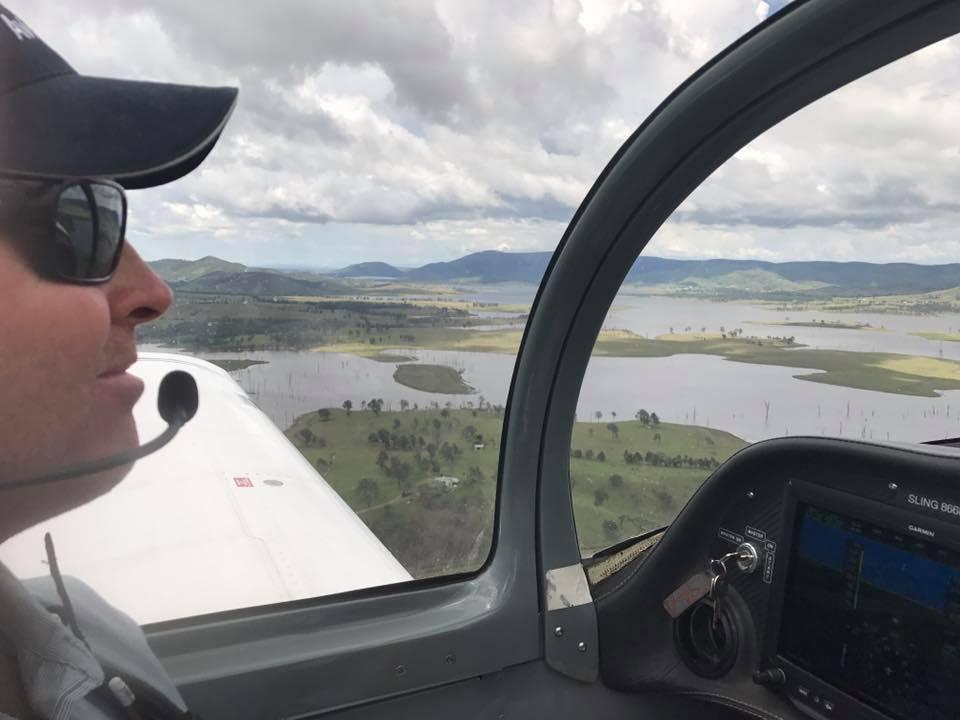 navigating an airplane