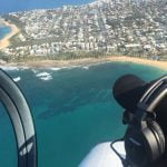flying lesson over Sunshine coast