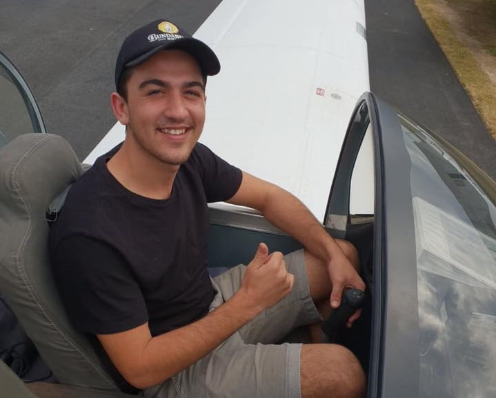 ben whitty after solo flight