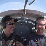 two men in plane